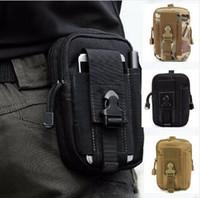 Holster tactique extérieur militaire ceinture sac de course en cours d'exécution Mobile téléphone affaire couverture Molle Pack sac à main pochette portefeuille fermeture à glissière pour iphone XR XS
