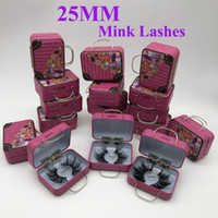25mm 25mm Falso pestañas mayorista grueso de Gaza 3D Mink Lashes personalizada Embalaje Etiqueta maquillaje dramático largas pestañas de visón