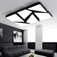 Neues Design moderne Rechteck LED-Deckenleuchten Leuchte für Wohnzimmer Schlafzimmer lamparas de techo colgante moderne Deckenleuchte