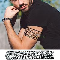 Etiqueta resistente al agua tatuaje temporal banda tótem tribal falso Tatto flash Personalidad Tatoo brazo de la cintura del pie Tato para la muchacha de las mujeres de los hombres