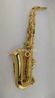 Copia Giappone prestazioni strumento di musica Yanagisawa A-W02 Eb Alto Saxophone bemolle Corpo Ottone Oro Lacquer Sax con il caso, Guanti, Bocchino
