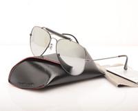 Neue Männer Sonnenbrillen Pilot Womans Sonnenbrille Ray Shooter Brille Brand Designer Sonnenbrille Glas Linse Sonnenbrille mit Original Hüllen und Kasten