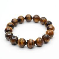 Perles unisexe pierre naturelle Bouddha Bracelet Brown Tiger Eyes Yoga méditation Bracelet pour homme femme main Bijoux