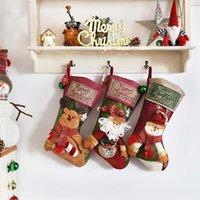 """18"""" Media de la Navidad personalizada con el Partido 3D copo de nieve de Santa muñeco de nieve reno media navidad árbol de familia de vacaciones Decoración JK1910"""