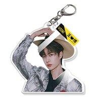 New Trendy Chen Qingling Fashion Multiful HD Keychain Double Sides Key Ring O Key Chain Wang Yibo Length: about 6cm