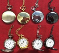 Wholesale 4Colors Quartz watches Chain Bronze pocket watches...