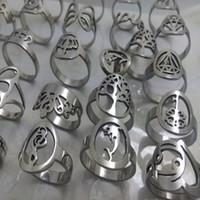 al por mayor anillo de la joyería anillo de 100 piezas llano de la plata de la banda de la banda de bodas anillos de acero inoxidable de moda Parejas