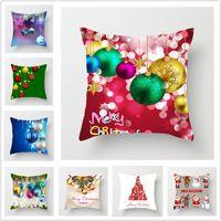NEW Weihnachten Burlap Kissenbezug Weihnachten Home Dekoration Kissenbezug Shams Leinen Platz Kissen- Kissen werfen Abdeckungen für Bench Sofa