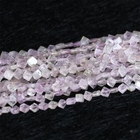 "Hurtownie Natural Orygine Purple Pink Kunzite Spodumene Diament Kształt Luźne Koraliki Fit Biżuteria DIY Naszyjnik 16 ""05328"