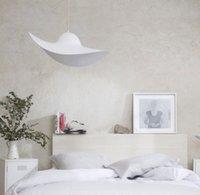 colgante de estilo de la lámpara sencilla tienda de ropa de armario de ventana de la habitación nórdica moderna Lámparas gran restaurante de moda luces colgantes sombrero de paja