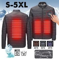 Зимняя куртка мужская одежда зимнее пальто умный USB брюшной полости обратно электрическое отопление прогрев хлопковая куртка Весов Homme Hiver