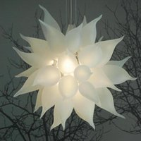 Chandeliers Pendant Lights 24 Inches White Modern Blown Glas...
