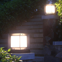 Solar Post Light Waterproof Aluminum Square Landscape Lighti...