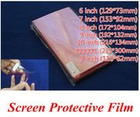 Free Ship 100pcs CLEAR Universal XXXXL 5 6 7 8 9 10 inch Grid Screen Protector Composite film for Mobile Phone GPS MP4 PDA