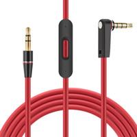 3.5mm Konuşma Kırmızı Stüdyo Kablolar için Yedek Kablolar ile Konuşma ve MIC Uzatma Ses AUX Erkek
