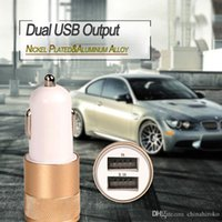 Car USB Charger Dual Port Cellphone Charger Metal Travel Ada...