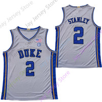 2020 NCAA College Duke Blue Devils Jerseys 2 Cassius Stanley 농구 저지 화이트 그레이 사이즈 남성 청소년 성인