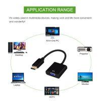 DP to VGA 비디오 어댑터 1080P Thunderbolt 남성 디스플레이 포트 여성 VGA 케이블 DisplayPort VGA DLLE DP 어댑터