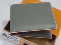 Portefeuille en cuir de fleur imprimé de luxe pour Mens de mode Mode Designer ID porte-identifiant Men portefeuilles avec boîte