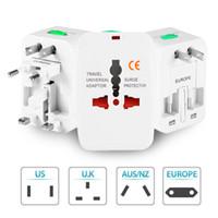 Globalmente carregamento Adaptador Universal de Viagem All-in-One International Converter World Travel AC Plug Power Adapter Soquete