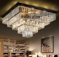 Простые светодиодные светильники квадратный кристаллический лампы потолочные светильники современные минималистичные спальни ресторан атмосферной люстры LLFA