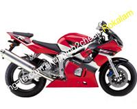 Para Yamaha Yzfr6 YZF600 YZF R6 Vermelho Motocicleta Preto Conjunto Completo Conjunto 1998 1999 2000 2001 2002 (moldagem por injeção)