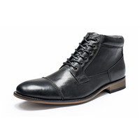 Neuer Kleid Schuhe Mann Formal Bussiness Boot Lace-up Hoch-Spitze Martin Stiefel Hohe Qualität Cowskin britische Schuhe Büro-Partei-Hochzeit Schuhe