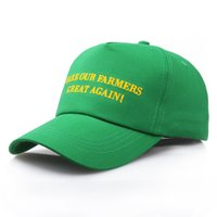 Fashion Embroidery Donald Trump Hat Creative Green Rendi i nostri agricoltori di nuovo fantastici Berretto da baseball Trump Support Ball Hat TTA708