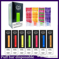 Newest Puff Bar Disposable Device empty Pod Starter Kit 280mAh Battery Vape Pen vs eon posh vgod stig disposable