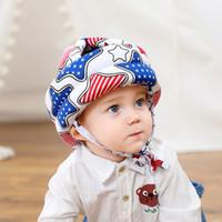 bébé garçons nouveau-nés filles chapeaux de protection de casque de sécurité de la tête de casquettes anti lutte pour les enfants empêchent l'impact de jeu à pied