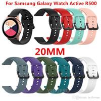 Neues 20mm Armband Silikonarmband für Samsung Galaxy Uhr Active SM-R500 Huami amazfit Gear Sport Ticwatch 2 Ersatzarmbänder
