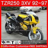 Cuerpo para YAMAHA 3XV TZR250 1992 1993 1994 1995 1996 1997 Amarillo negro 119HM.60 TZR250RR RS TZR 250 YPVS TZR-250 92 93 94 95 96 97 Carenados