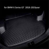 Individuelle Anti-Rutsch-Leder Auto Kofferraummatte Bodenmatte passend für BMW 6er GT 2018-2019year Auto Anti-Rutsch-Matte