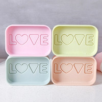 Dwuwarstwowe Dania z mydłem z Love Hole Drenaing Soap Boxes Rack