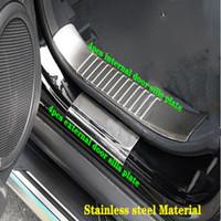 عالية الجودة من الصلب المقاوم للصدأ 8PCS المادية عتبات الباب أبلى لوحة حارس، غطاء دواسة لوحة زخرفية للجيب كومباس 2010-2015
