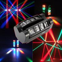 LED DMX512 son Activated Mini Araignée Faisceau de lumière LED Effets scène éclairage Disco DJ Party