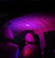 الغلاف الجوي المحيط رومانسية مسند الذراع مصباح الليزر ضوء مربع سقف السيارة سقف نجم ضوء وميض تأثير النيون توهج مع مربع التجزئة الشحن المجاني
