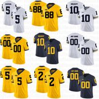 10 Tom Brady 2 Charles Woodson 5 Jabrill Peppers 4 Jim Harbaugh 21 Desmond Howard NCAA Custom Michigan Wolverines College Football Jerseys