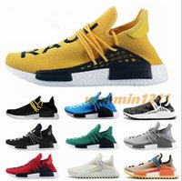Corrida New NMD Homens Mulheres cartões Branco Humano Solar amarelo Pharrell Williams Oreo OG Verde Running Shoes Sports sneakers