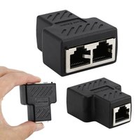 1 Bis 2 Wege LAN Ethernet Netzwerk Kabel RJ45 Buchse Splitter Stecker Adapter für Laptop Docking Stationen