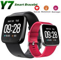 Y7 Smart Fitness Armband Mini Band 3 Blutdruck Sauerstoff Sport Tracker Uhr Herzfrequenz Monitor Armband Männer Frauen Smartwatch MQ20