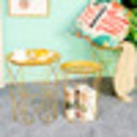 Metal Coffee Sala de estar Sofá Tabla lateral Sucio Cesta de almacenamiento Té Mesa de Té Tabla Mesa Minimalista Muebles TV Bandeja