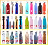 30 CORES Cola Garrafa de água em forma de garrafa dupla de vácuo de parede dupla de alta luminância Garrafa de água 500 ml Garrafa térmica criativa Isolada a vácuo