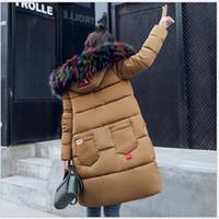 Forma-neve desgaste grande gola de pele senhoras Coats 2017 Casaco de Inverno Mulheres Parka longos e grossos Womens casacos e jaquetas Casacos K130
