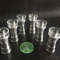 4 in 1 Chiodo titanio per chiodi in titanio Domeless Chiodi in titanio GR2 per maschio femmina Accessori per bong a giunto 18mm 18mm Piatto al quarzo