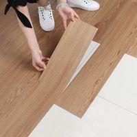 Piso de madera de PVC pegatinas autoadhesivas stickers de suelo de plástico resistentes al desgaste decoración adorno dormitorios casa de la sala de estar a prueba de agua