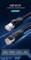 Yönlendirici Dizüstü Cable8 Ethernet için Cat8 Ethernet Kablosu RJ 45 Ağ Kablosu FTP Lan Kedi 7 RJ45 Patch Cord 10m