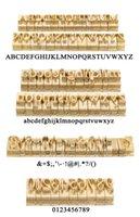 Logotipo de encargo del regalo del alfabeto T ranura del accesorio 52 letras del alfabeto 10 números de 20 símbolo sello de piel de cuero herramienta de marcas Hierro Máquina de matriz del molde