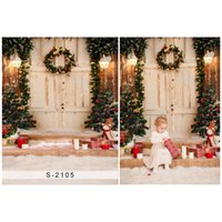 5X7ft Vintage wooden door Vinyl Photography Background Chris...