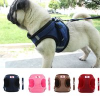 Pet Dog Cat Harness with Leash Adjustable Vest Walking Dogs ...